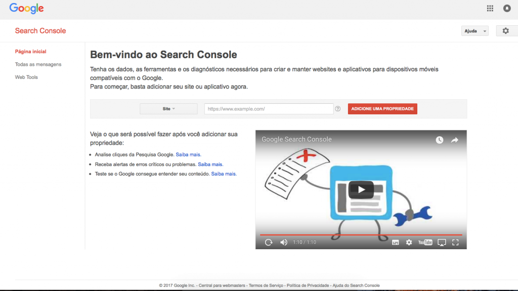 Search_Console_-_Página_inicial